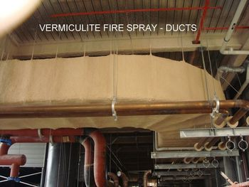 Duct fire protection for Fire rated batt insulation